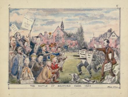 Battle of Bedford Park - watercolour