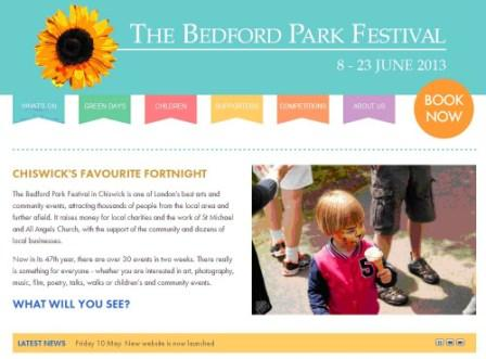 Bedford Park Festival new website