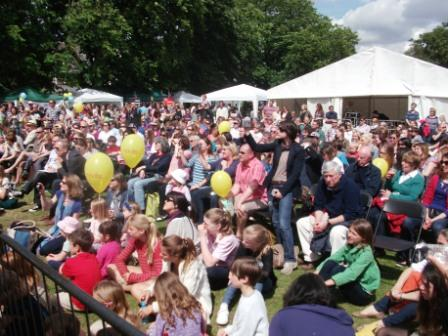 Crowd watching Bedford Park's Got Talent