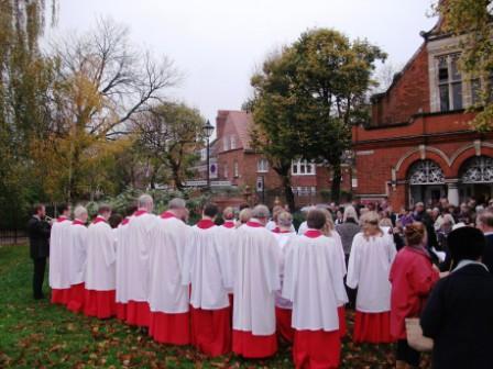 Choir at War Memorial 2010