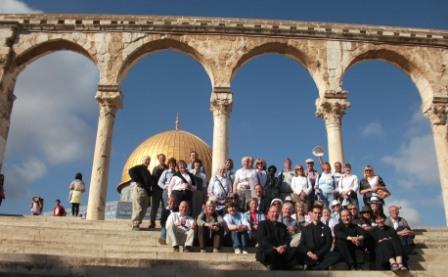 Our pilgrims on Temple Mount, Jerusalem