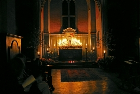 Maundy Thursday Vigil in side chapel