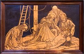 Jesus is taken down from the cross